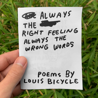 Right Feeling Wrong Words Zine