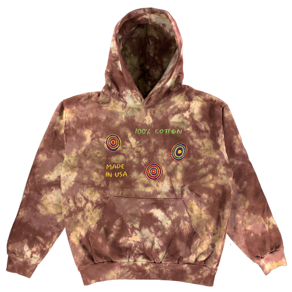 Embroidered and Dyed Hoodie - Large