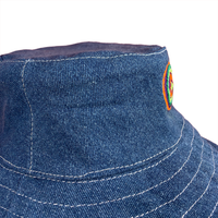 Hand Made Embroidered Bucket Hat - Medium