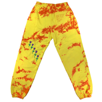 Embroidered and Dyed Sweatpants - Small