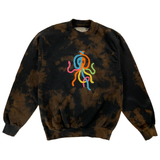 Embroidered and Dyed Crewneck Sweatshirt - Small