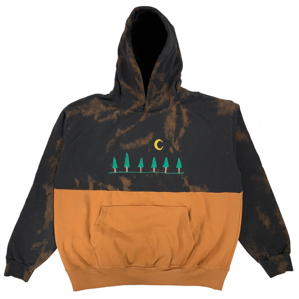 Embroidered and Dyed Hoodie - 2XL