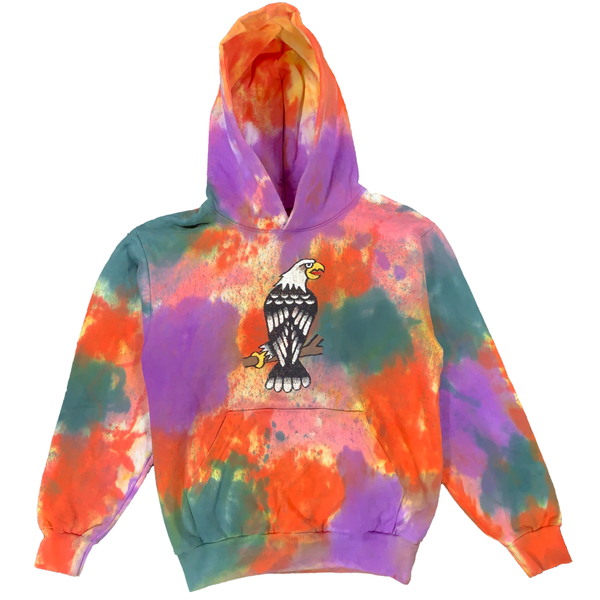 Embroidered and Dyed Hoodie - S