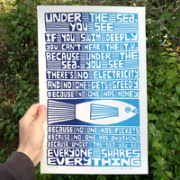 Screen Printed Poster / 11in x 17in / S7