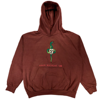 Embroidered and Dyed Hoodie - XL