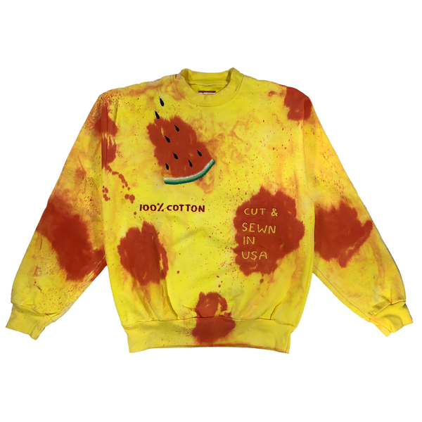 Embroidered and Dyed Crewneck - S