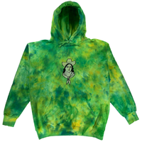 Embroidered and Dyed Hoodie - L