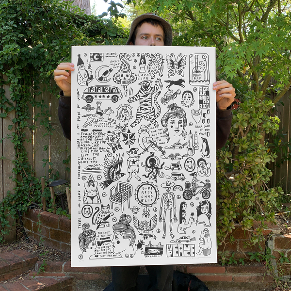 Screen Printed Poster / 24in x 36in