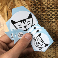 Relaxed Cat Sticker Pack