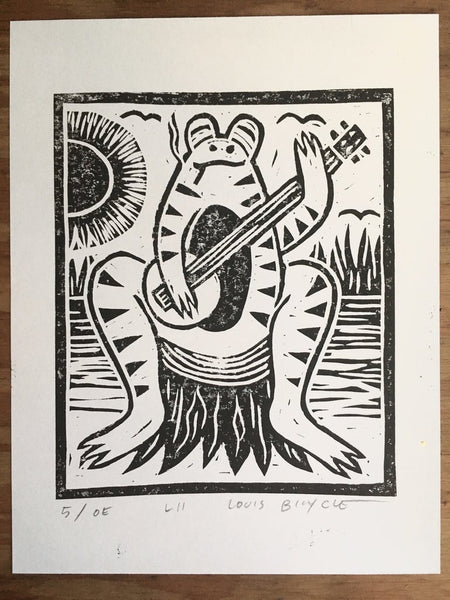Block Printed Poster / 8.5in x 11in / L11