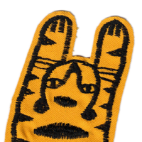 Freehand embroidered tiger patch (one)