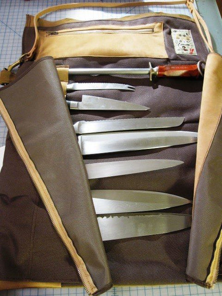 Caveman's knife roll