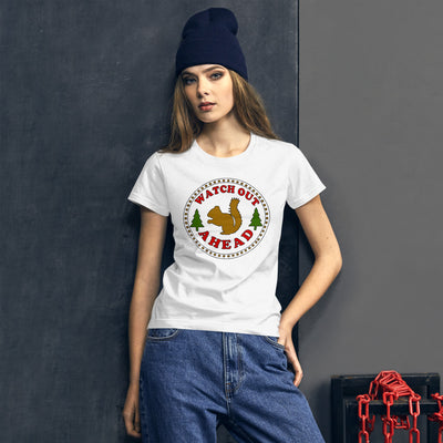 Women's short sleeve t-shirt - Squirrel Ahead (Animal Protection)