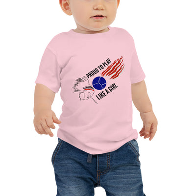 Baby Jersey Short Sleeve Tee Proud to Play Like a Girl