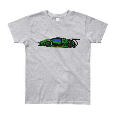 Youth Short Sleeve T-Shirt - Refined image from Car sketch