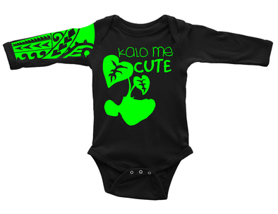 Kalo Me Cute Onesie (Blk|Grn) |Choose Island|