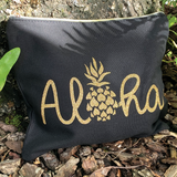Aloha Pineapple Canvas Clutch