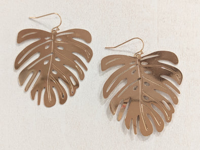 Plated Lasercut Earrings