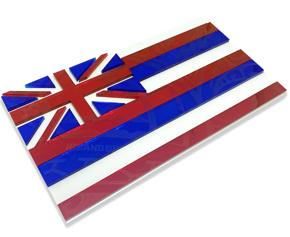 Modern Hawaiian Flag Emblem