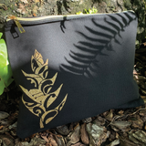 Heliconia Canvas Clutch
