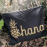 Ohana Pineapple Canvas Clutch