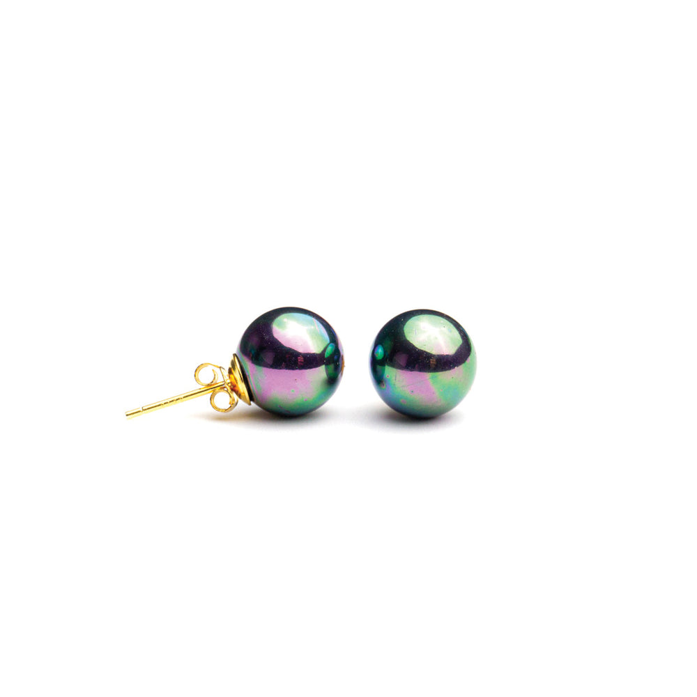 Gold Filled Shell Pearl Studs