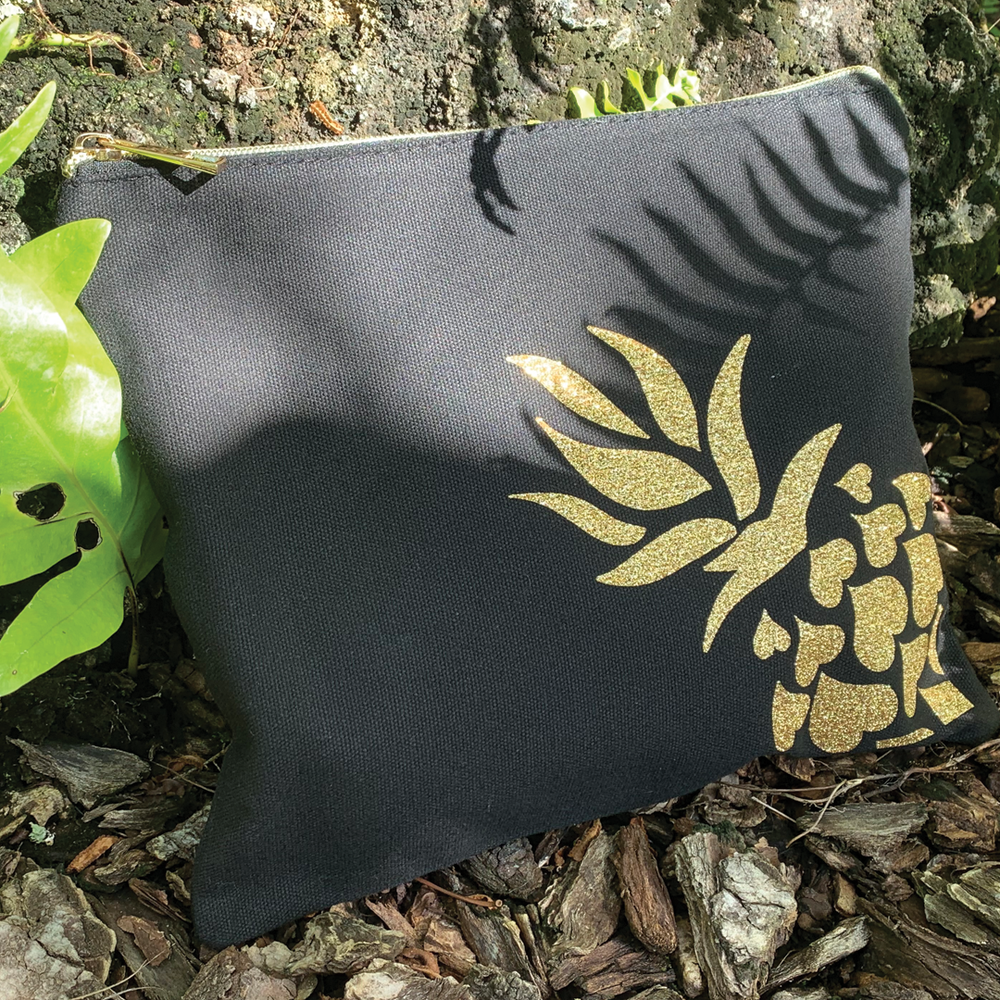 Pineapple Canvas Clutch