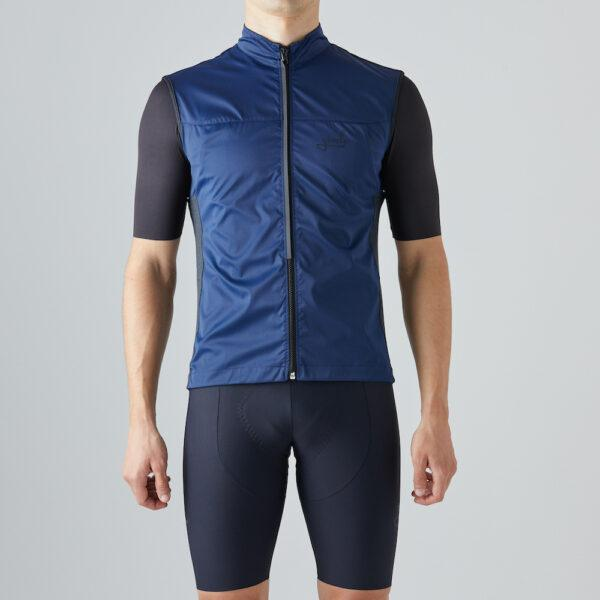 Givelo Mens Blue Windproof Gilet Gilets Givelo