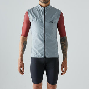 Givelo Mens Gray Windproof Gilet Gilets Givelo