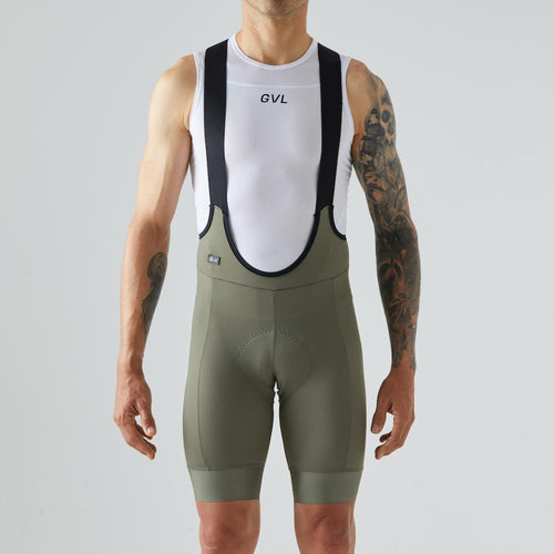 Givelo Mens Olive Bib Short 120 kg/m3 Bib Shorts Givelo