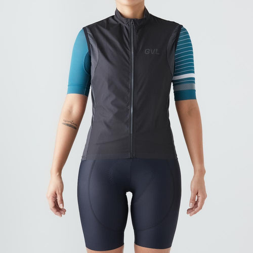 Givelo Womens Black Quick Free Gecko Gilet Gilets Givelo