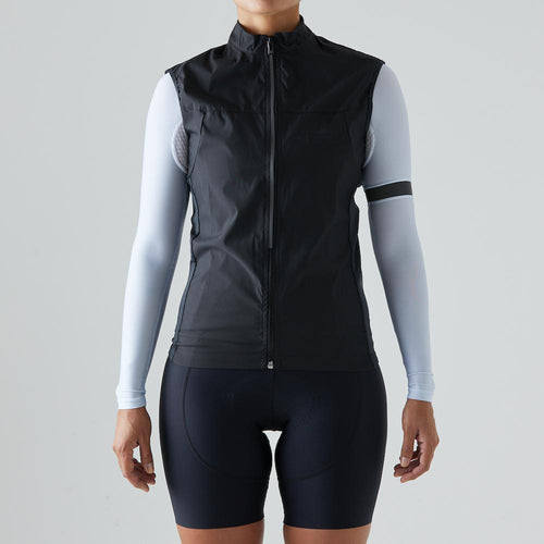 Givelo Womens Black Windproof Gilet Gilets Givelo