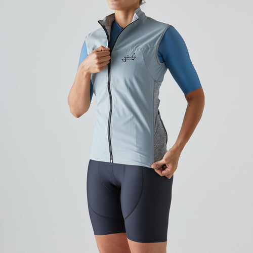 Givelo Womens Gray Windproof Gilet Gilets Givelo