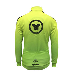 Pacto Kids 18 Fluorescent Green Long Sleeve Jersey Kids Long Sleeve Jerseys Pacto