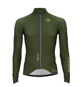 Pacto Mens Army Green Carbon Long Sleeve Jersey Long Sleeve Jerseys Pacto