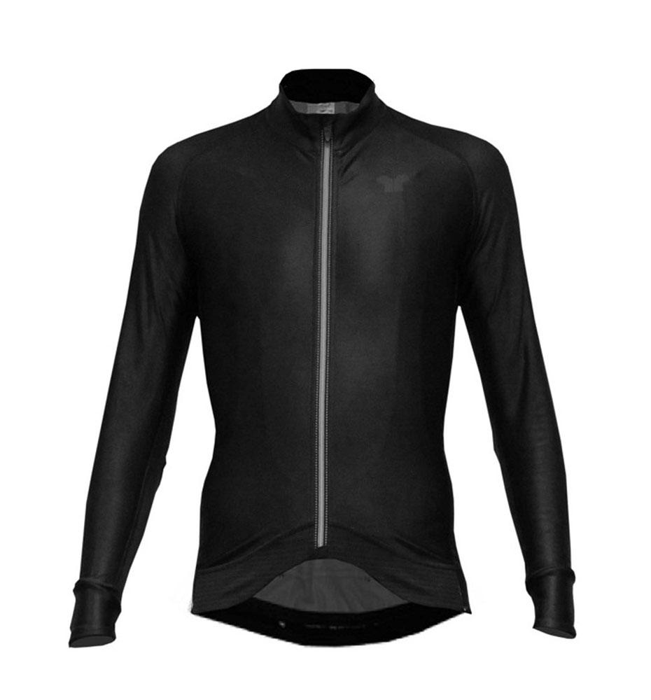 Pacto Mens Black Carbon Long Sleeve Jersey Long Sleeve Jerseys Pacto