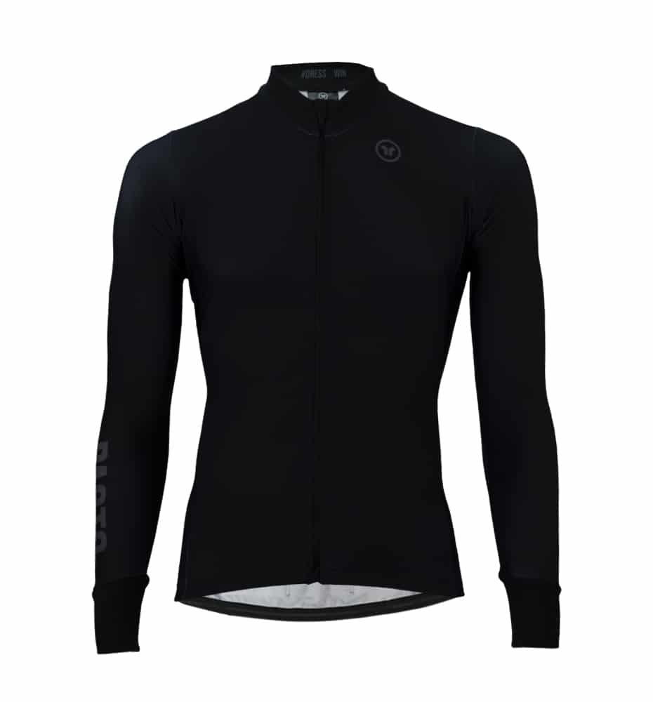 Pacto Mens Black Pro Team Long Sleeve Jersey Long Sleeve Jerseys Pacto