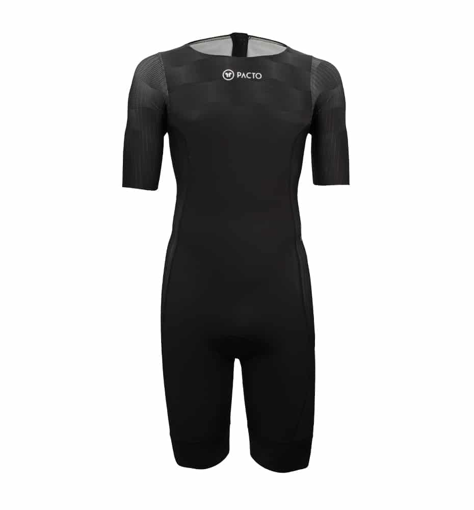 Pacto Mens Black Triathlon Sleeved Suit Triathlon Suits Pacto