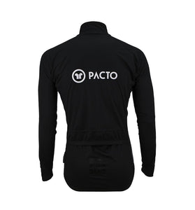 Pacto Mens Black Winter Rain Jacket Jackets Pacto