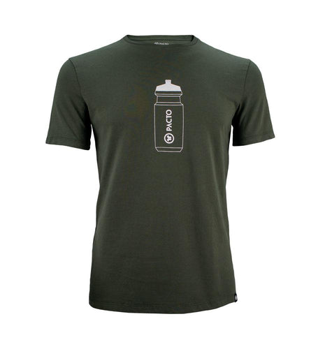 Pacto Mens Dark Green 100% Cotton Tee T-Shirts Pacto