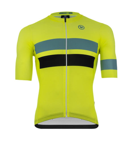 Pacto Mens Fluorescent Stripes One Pro Short Sleeve Jersey Jerseys Pacto