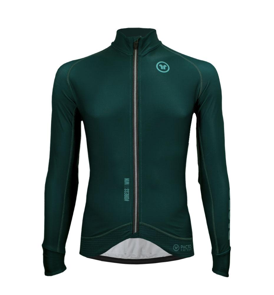 Pacto Mens Green Carbon Long Sleeve Jersey Long Sleeve Jerseys Pacto