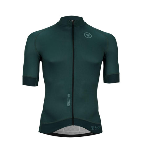 Pacto Mens Green Carbon Short Sleeve Jersey Jerseys Pacto