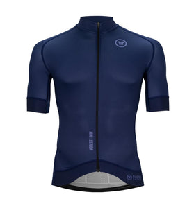 Pacto Mens Navy Blue Carbon Short Sleeve Jersey Jerseys Pacto