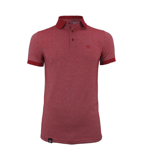 Pacto Mens Tinted Red Polo Polo-Shirts Pacto