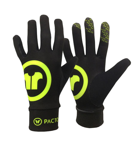 Pacto Unisex Black Fluorescent Spring Fit Gloves Gloves Pacto