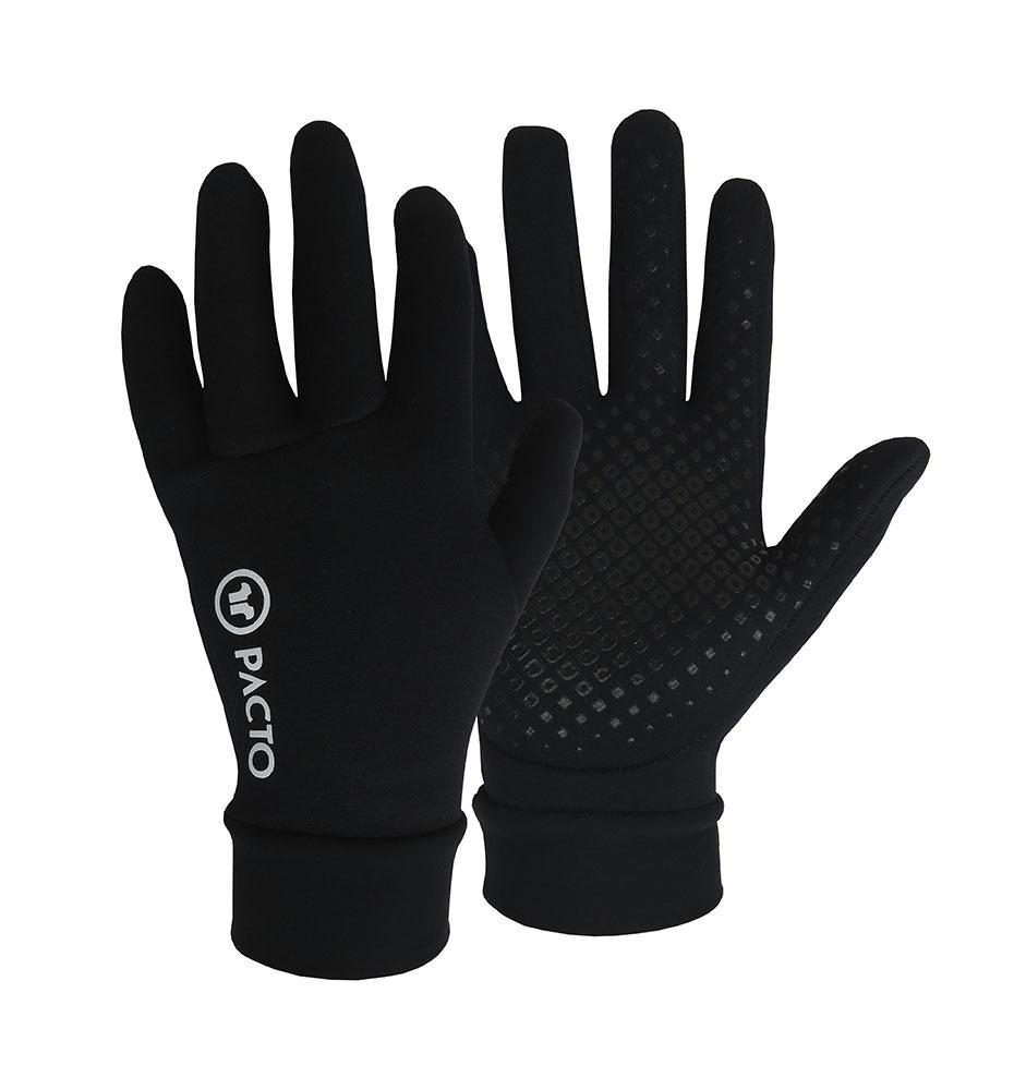 Pacto Unisex Black Winter Gloves Gloves Pacto