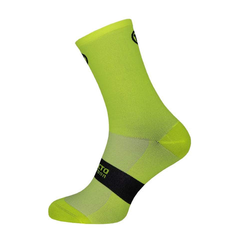 Pacto Unisex Fluorescent Yellow Carbon Socks Socks Pacto