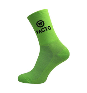 Pacto Unisex High Socks Socks Pacto Fluorescent Green