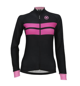 Pacto Womens Black-Pink Laser Long Sleeve Jersey Long Sleeve Jerseys Pacto
